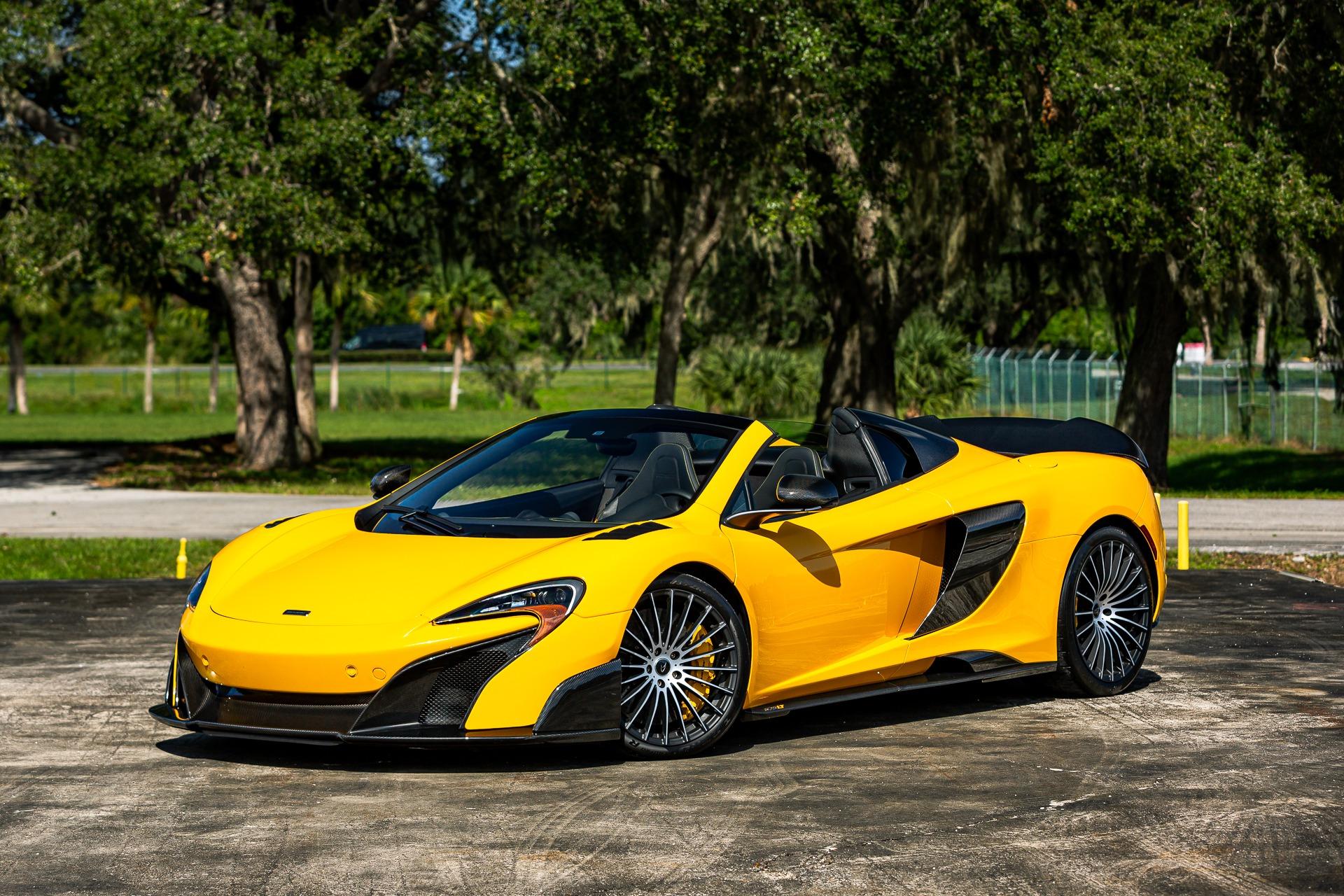 Used 2016 McLaren 675LT Spider for sale Call for price at McLaren Orlando LLC in Titusville FL 32780 1