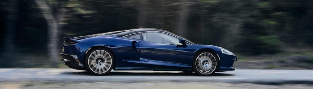 McLaren GT Blue Profile