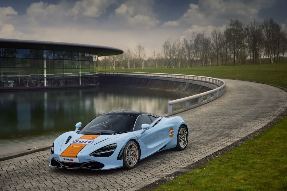McLaren Special Operations Recreates Legendary Gulf Livery for 720S to Celebrate Two Iconic Brands and Personalisation Possibilities