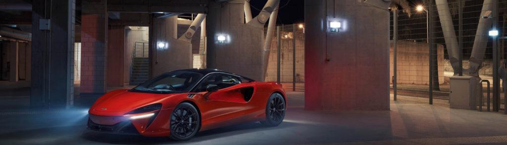 McLaren Artura Red Garage