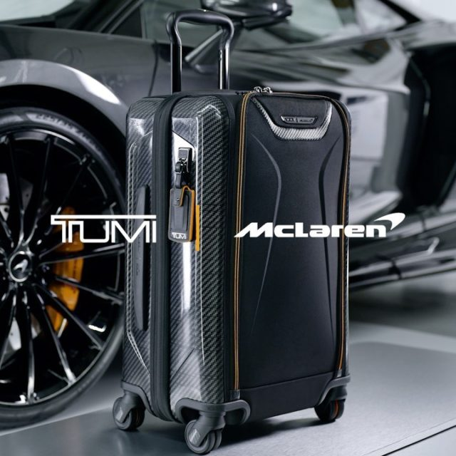 #TUMITuesday 🧳💼 McLaren is proud to connect with TUMI as our official luggage partner! . #McLarenOrlando #TUMI #McLarenAuto #McLarenRacing #F1 #Luggage #FirstClass #OrlandoTravel #CarbonFiber