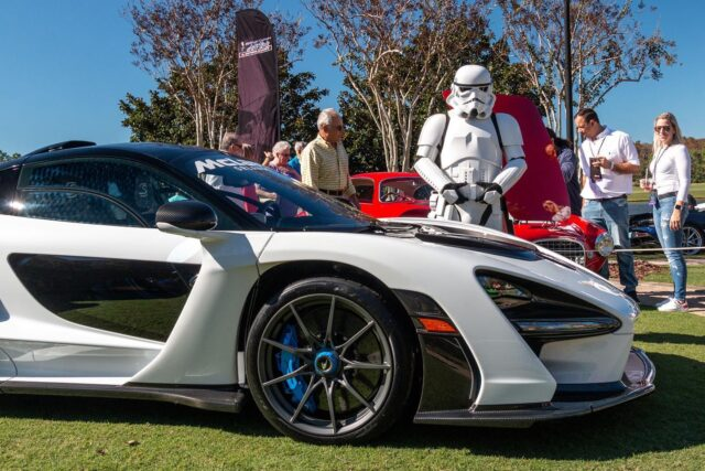 #WayBackWednesday to @FestivalsofSpeed in Orlando in 2019 when an official stormtrooper helped guard our display 🤍 Come see us again on Sunday, Oct 31 @RitzCarltonOrlando